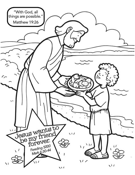 coloring page of jesus feeding the 5000 download