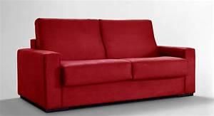 Canapé Rouge Convertible : canape 3 places convertible atol rouge ~ Teatrodelosmanantiales.com Idées de Décoration