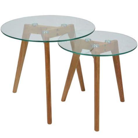 2 tables basses en verre gigognes rondes fiord achat vente table basse 2 tables basses en