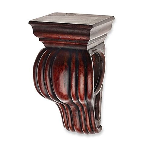 Window Sconces Curtain Drapery Sconces by Cambria 174 Classic Wood Drapery Sconce In Cherry Bed Bath