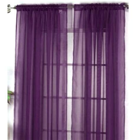 1 home sheer voile door window curtain panel drape