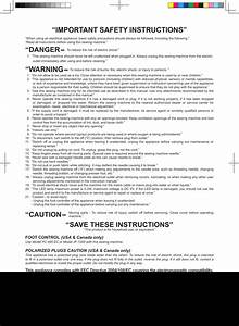 Important Safety Instructions U201d  U201cwarning  Save These