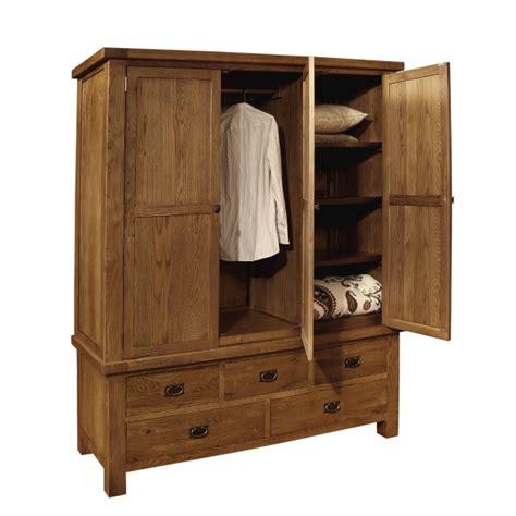 beaumont solid dark oak bedroom furniture large triple