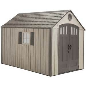 lifetime sheds 60086 8 x 12 5 foot plastic storage shed