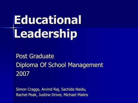educational leadership powerpoint  id