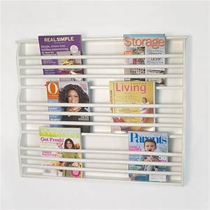 Deluxe Wall-Mount Magazine Rack - Contemporary - Magazine