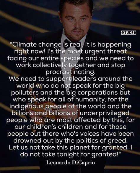 Leonardo Dicaprio Climate Change Quotes | the quotes