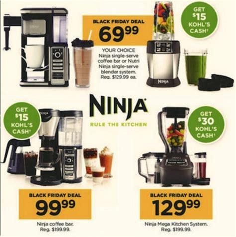 ninja bar blender friday grill fryer coffee foodi air deals kohl funtober kitchen