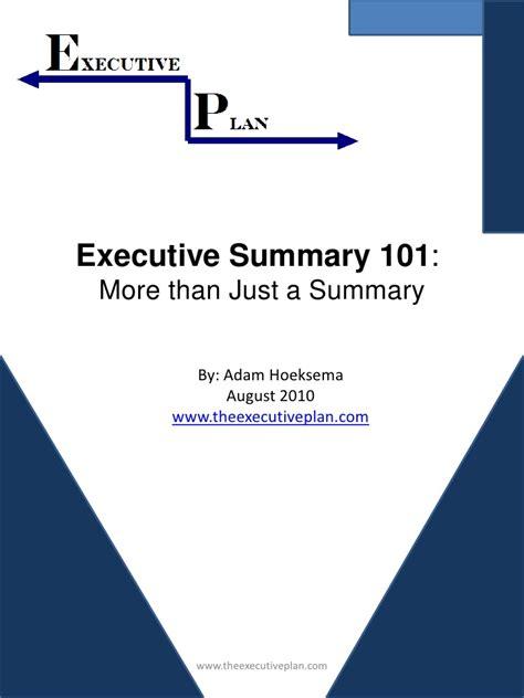 17592 exle of a resume executive summary 101