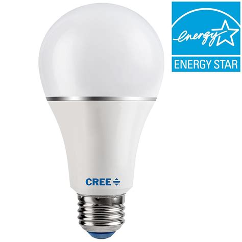home depot led light bulbs cree 30 60 100w equivalent soft white 2700k a21 3 way