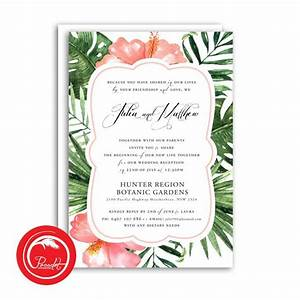 tropical wedding invitation set pocadot invitations With tropical wedding invitations australia