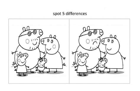 spot  difference worksheets  kids learning english