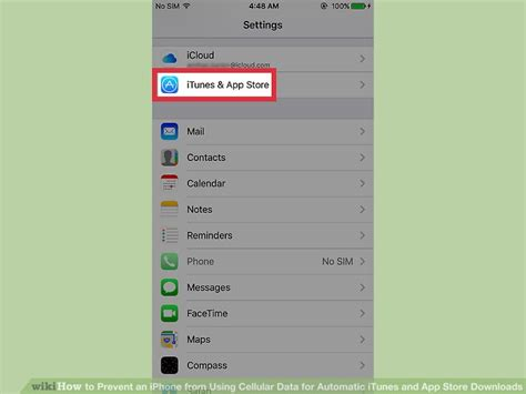 how to prevent an iphone from using cellular data for automatic itunes and app store downloads