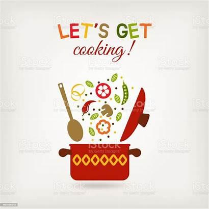 Recipe Pot Menu Vector Illustration Vegetarian Vegetables
