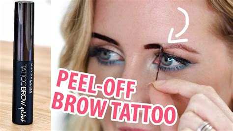 maybelline  day brow tattoo review demo youtube