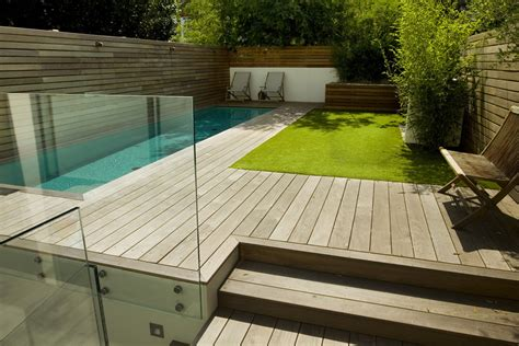 swimming pool and contemporary garden designed and