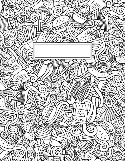 journal cover doodle binder cover coloring pages