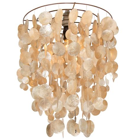 capiz shell chandelier 20th century capiz shell chandelier for at 1stdibs
