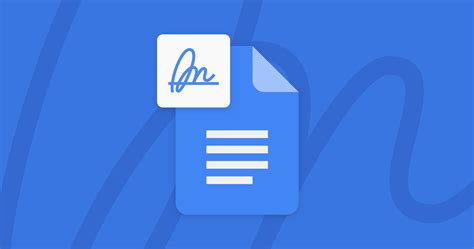 Sign Electronic Signatures in Google Docs, Sheets, Drive ...