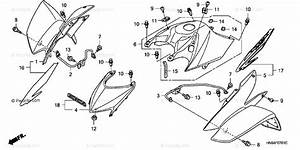 Honda Atv 2007 Oem Parts Diagram For Front Fender   U0026 39 06