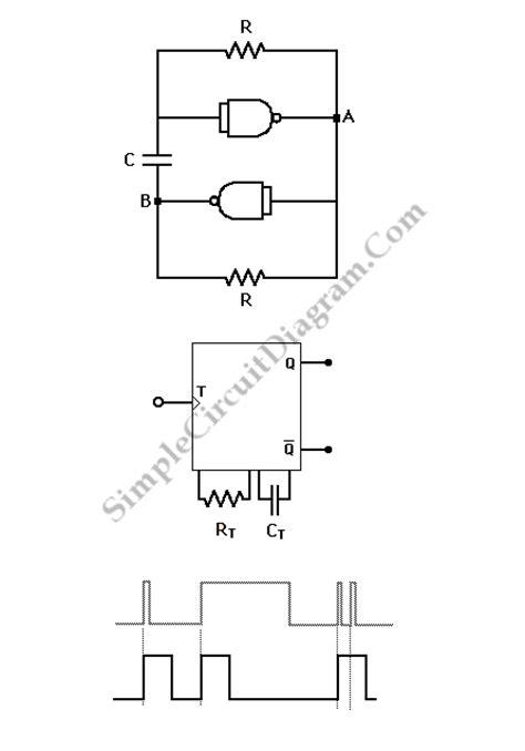 Astable Monostable Multivibrators Simple Circuit Diagram