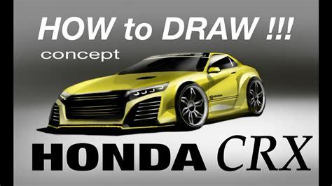 Honda Crx Acura 🇯🇵🇯🇵concept 2018 (image) Time Lapse