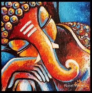 Abstract Paintings Of Lord Ganesha | www.imgkid.com - The ...