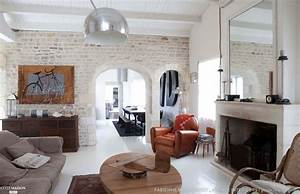 deco salon pierre apparente With deco salon mur pierre