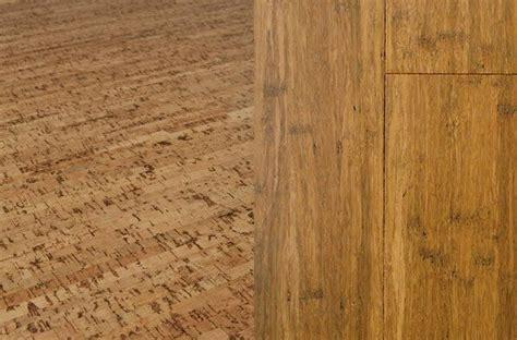 cork flooring vs bamboo sustainable floors new cork and bamboo flooring ideas