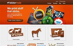 38 bright color web design inspirations dzineblogcom With custom sticker website