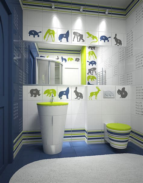 18 Colorful And Whimsical Kid's Bathroom  Home Design Lover