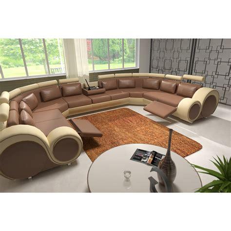 canape u canapé panoramique en cuir rolls 9 places relax canapés