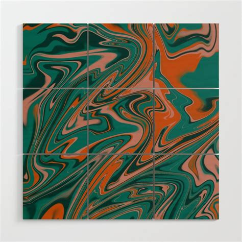 Shop stylish and attractive wood wall art at luxedecor.com. Teal Marble 3 Wood Wall Art by claireligraphy   Society6