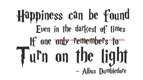 Dumbledore Light Quote by Wall Quote Decal Vinyl Sticker Quot Happiness Quot By Albus