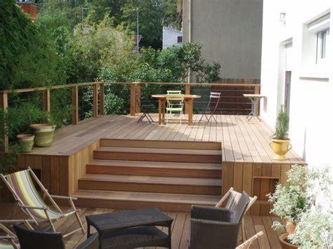 construction maison individuelle bois idee terrasse