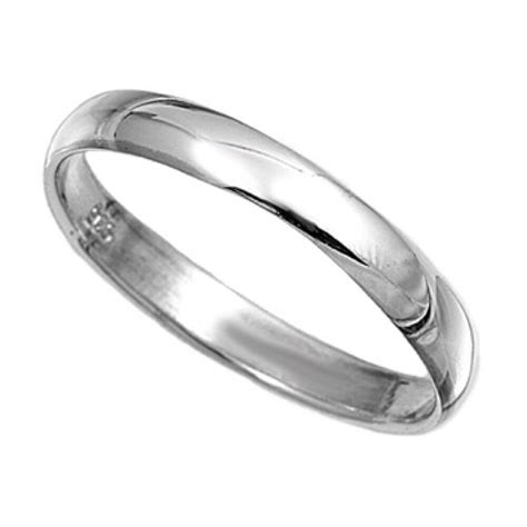 mens sterling silver plain band ring 3mm wide wedding thumb sizes g z ebay