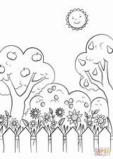 Coloring Garden Pages Drawing Gnome Gardens Printable Summer Print Categories Supercoloring sketch template