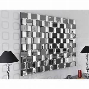 Grand Miroir Design : miroir facettes relief design disco couleur m achat vente miroir cdiscount ~ Teatrodelosmanantiales.com Idées de Décoration