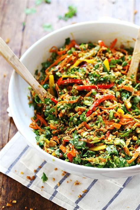 chopped thai salad  sesame garlic dressing recipe