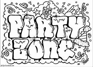 Printable Graffiti Coloring Pages - AZ Coloring Pages