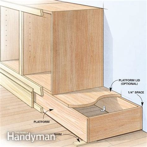 how to build a cabinet box shortcuts for custom built cabinets the family handyman