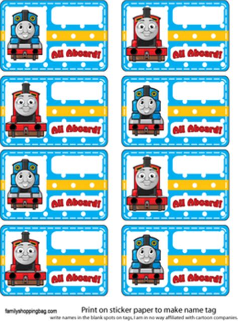 tag thomas  tank engine party decorations