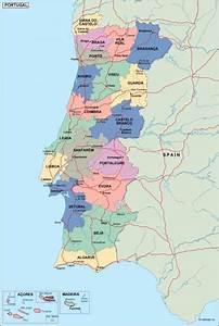 Portugal Political Map  Illustrator Vector Eps Maps  Eps