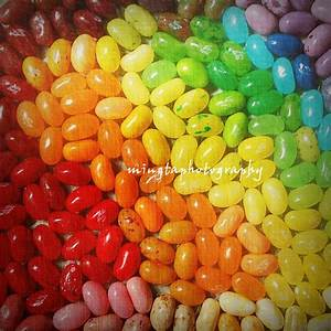 Rainbow Of Jelly Beans Sweety Red Orange Yellow Green Blue