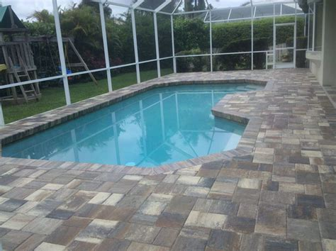 brick paver pool patios and decks five brick pavers