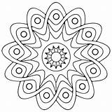 Coloring Pages Geometric Printable sketch template