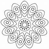 Coloring Geometric Printable Adults Mandala sketch template