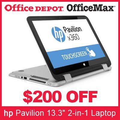 Office Depot Coupons Desktop by Office Depot Coupon 200 Hp Pavilion 13 3 Quot 2 In 1