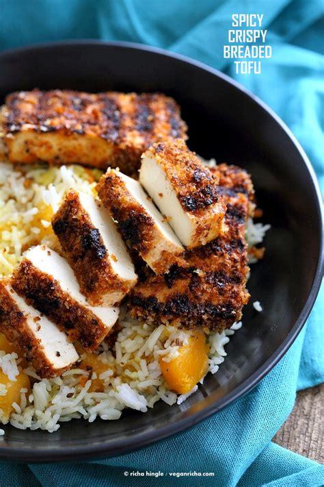 spicy crispy breaded tofu strips vegan richa