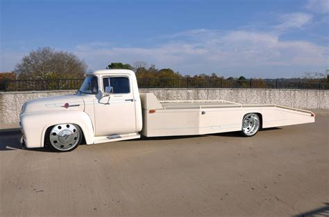 truck car 56 ford f350 car hauler classic trucks and cars